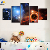 5 Panel Earth Canvas Art Picture Space Art Prints Modern Abstract Painting Cosmos Universe Canvas Pictures