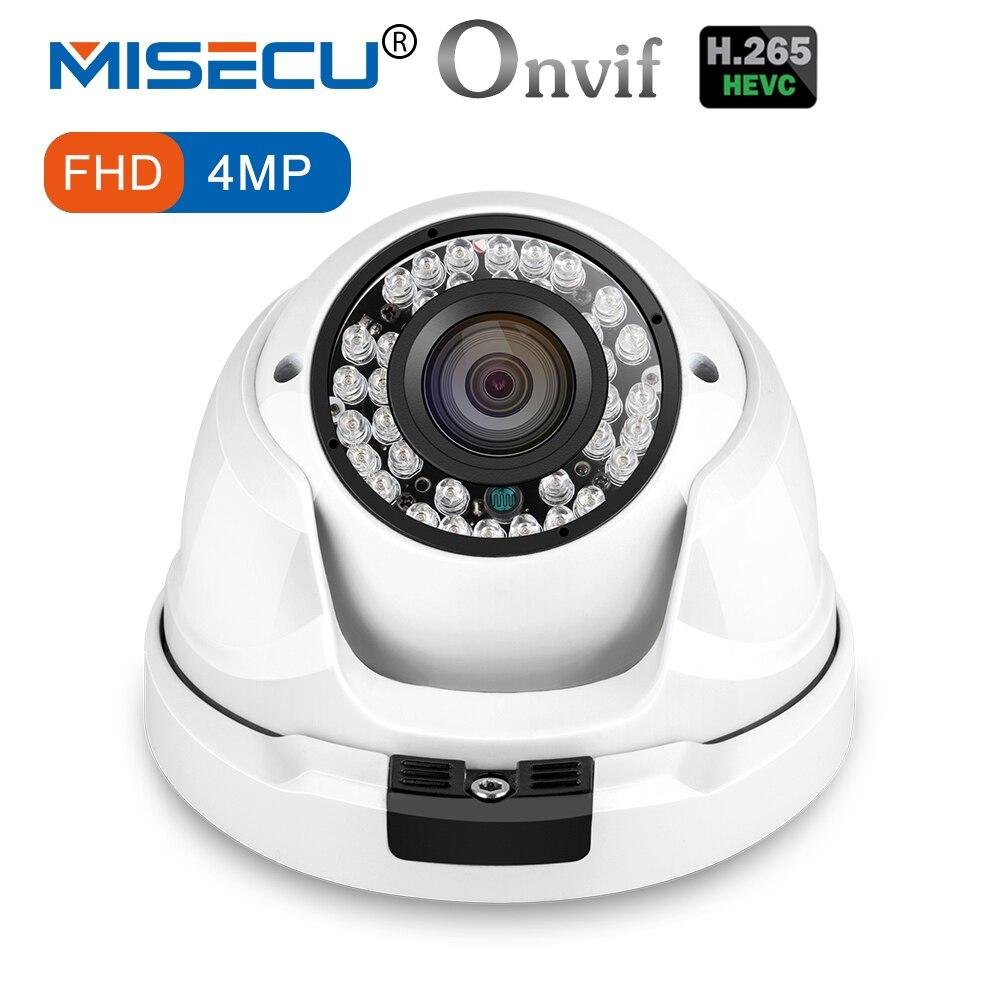 MISECU 4.0MP H.265/H.264 48 В POE Hi3516D OV4689 металлический купол IP 36IR Камера 1/3 широкий динамический ONVIF 2592*1520 P2P ночной вид XMEye