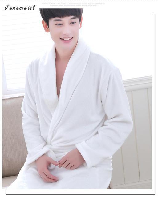 Inverno Senhora Pijamas Roupão De Banho Sleepwear Homem Mulher Robes Roupões De Veludo Coral Vestido de Noite Spa Roupão Homewear Tamanho Da Ásia S-XXXL