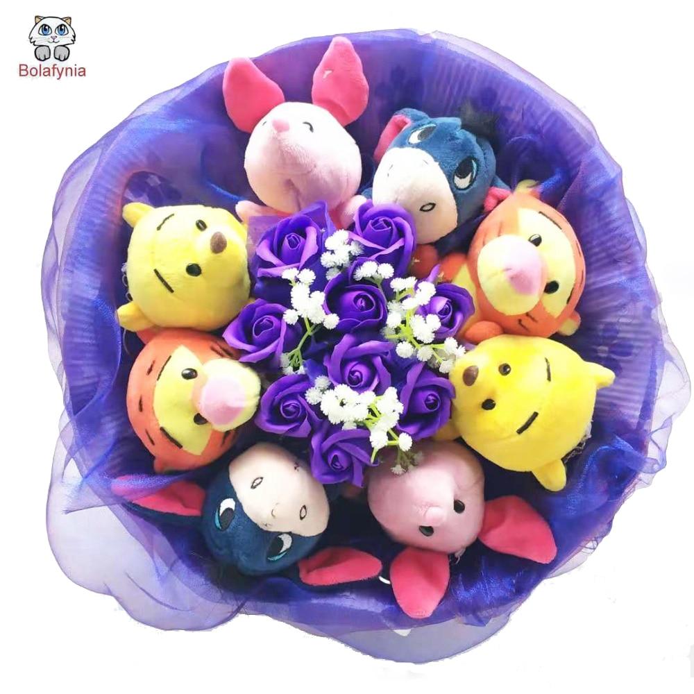 BOLAFYNIA jouets en peluche doux peluches poupées point bouquets en peluche pour la saint-valentin anniversaire cadeaux de noël