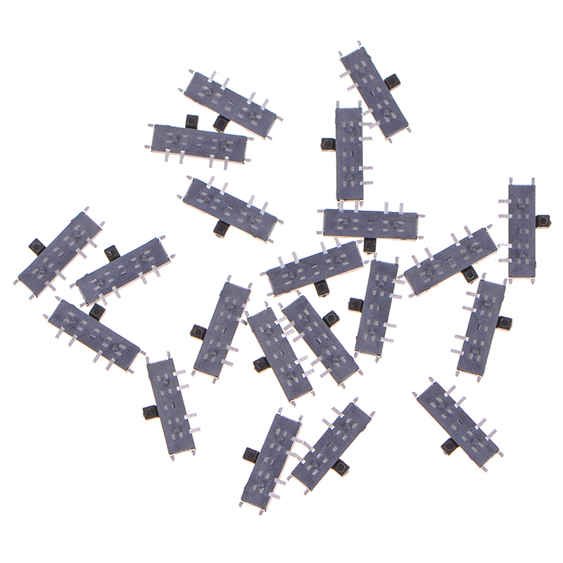 1pc/10pcs 3-Position 8-Pin DPDT Mini SMD SMT Slide Switch MSK-13C01 8 Pin Mini Toggle Switches Micro Slide Switches