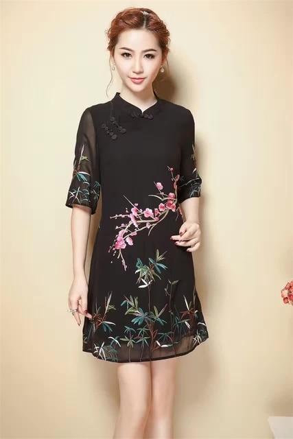 7504b0210705 Women Dresses New 2017 Summer Dress vestidos Sexy Dress Expensive Plum  Embroidery Fashion Women Dress Black High Quality