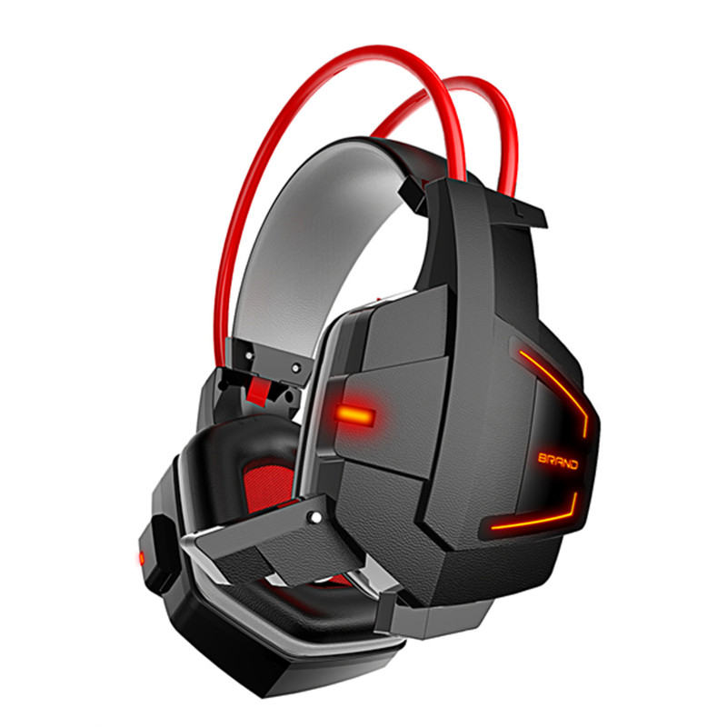 Top Quality Stereo Super Bass PC Gaming Headphone Gamer Over-ear Headset Headband with Mic Volume Control LED Light for PC Gamer led bass hd gaming headset mic stereo computer gamer over ear headband headphone noise cancelling with microphone for pc game