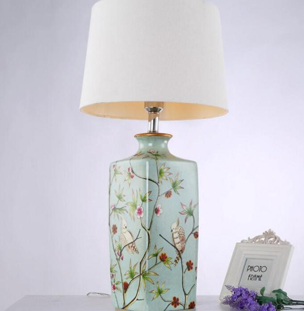Traditional vintage chinese ceramic table lamp e27 elegant table traditional vintage chinese ceramic table lamp e27 elegant table lighting for bedroom aloadofball Choice Image