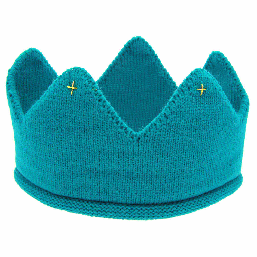 New Cute Baby Boys Girls Crown Knit Headband Hat Opaska Dla Dziewczynki Baby Girl Hair Accessories Hairpins Fashion Headwear