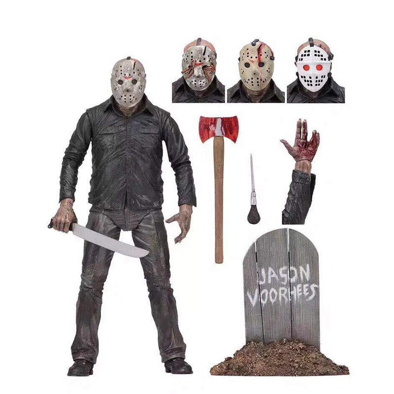 NECA Original Friday The 13th PartV Part5 A New Beginning Jason Voorhees Action Figure Toy Doll  (3)
