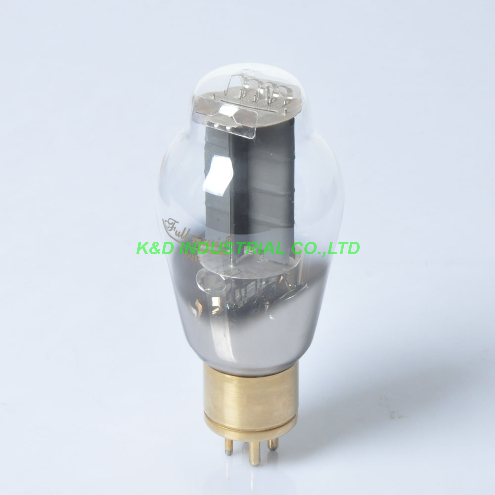 1pair Full Music Audio Vacuum Tube TJ 300B Valve Solie Plate Brass Gold Base Dome Shape