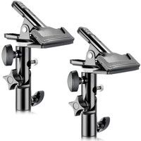 Neewer 2 PCS Photo Studio Heavy Duty Metal Clamp Holder With 5 8 Light Stand Attachment