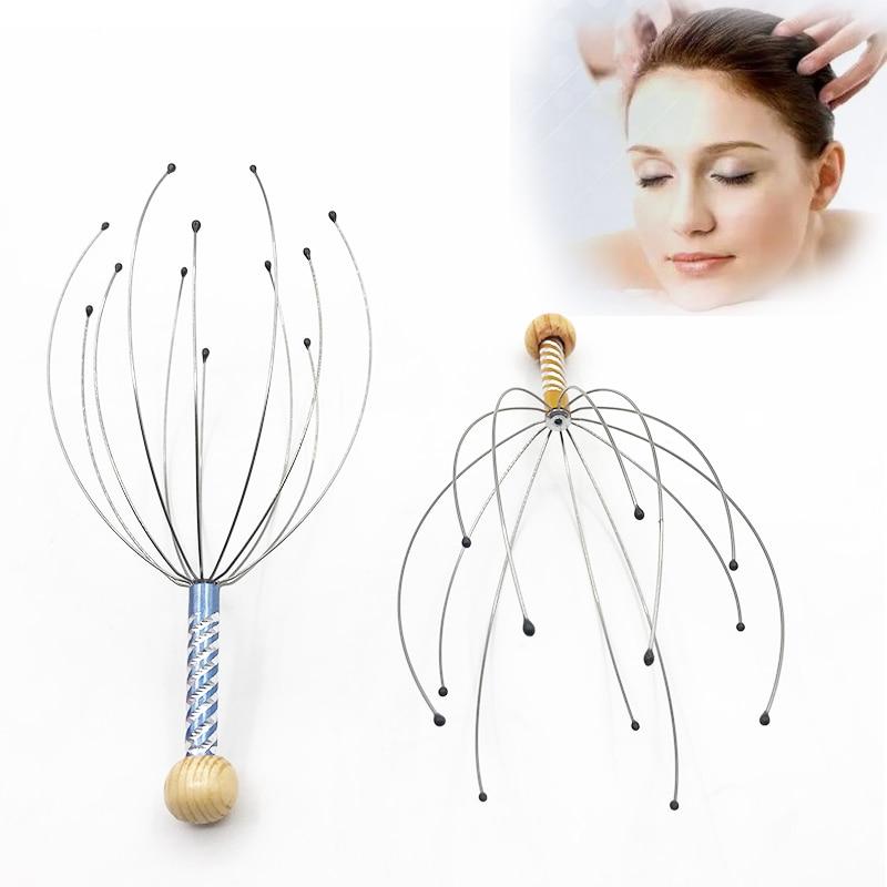 roller Anti-stress Tens Pain Relief Octopus Head Scalp Neck Stress Release Relax Massager Claw Face Skin Care Lift Tools joelheira magnética alívio