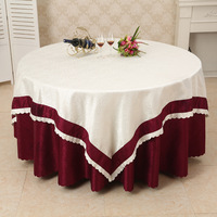 2018 new arrival polyester table cloth for wedding party banquet decoration floral printing patchwork table covers table linen