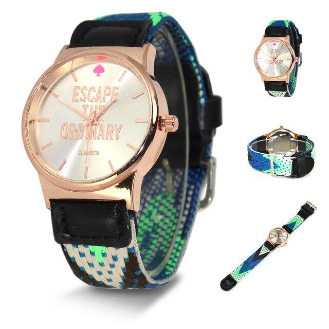 Women Men Knitting Dial Quartz Casual Wrist Watch Bracelet Watch