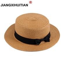 wholesale Summer women straw hat Parent-child sun hat Kids Large Brim Beach  caps Boater 8a403ea95575