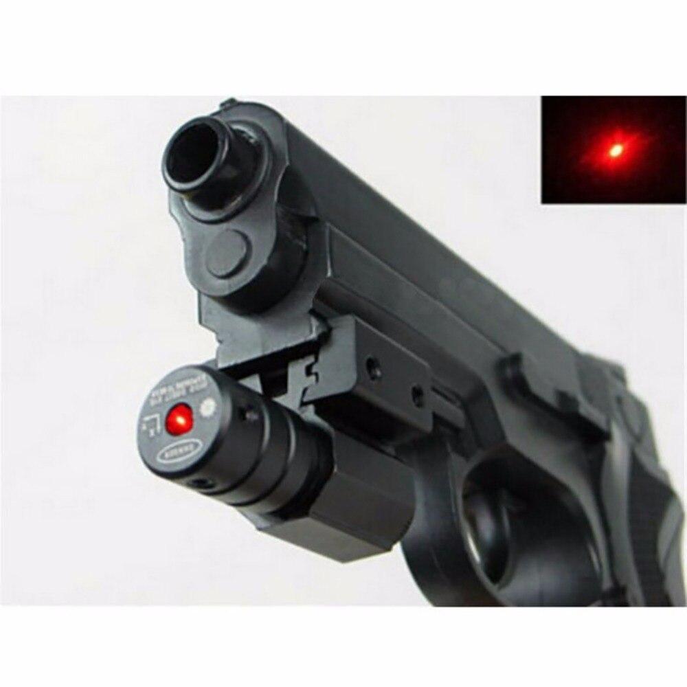 50-100 м Диапазон 635-655nm Red Dot лазерный прицел пистолет регулируемый 11 мм 20 мм Пикатинни Охота аксессуар