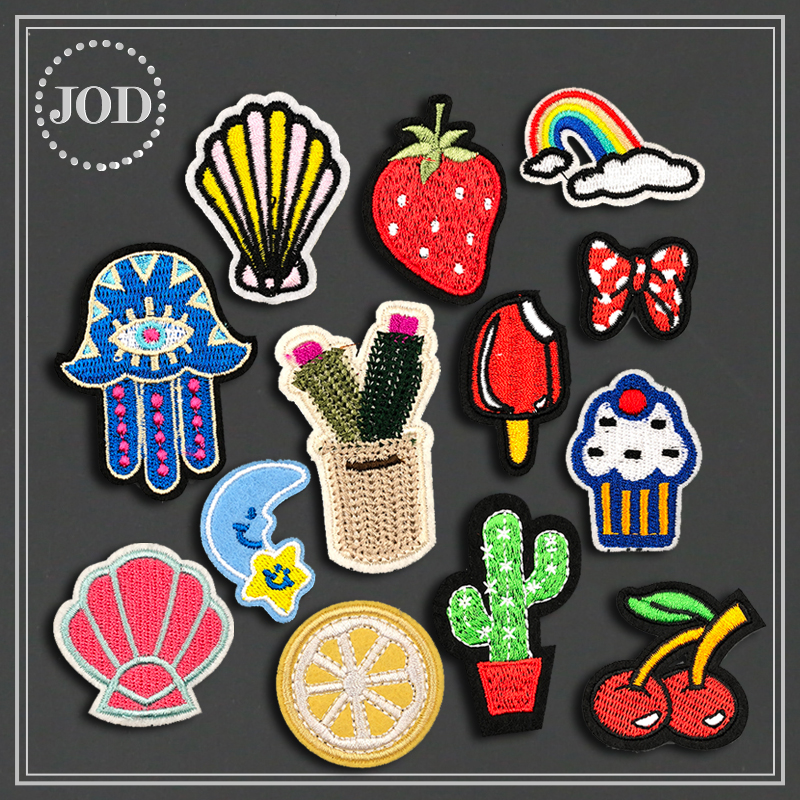 Cute Mini Small Clothes Bag Patch Embroidery DIY Iron on Patches for Clothing Sew on Stickers Badges Applications Children JOD action figure pokemon