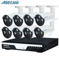 Новый супер Full HD 8CH 3MP Главная Открытый комплект системы видеонаблюдения 8 канала массив Светодиодный CCTV AHD Камера 1920 P безопасности системны