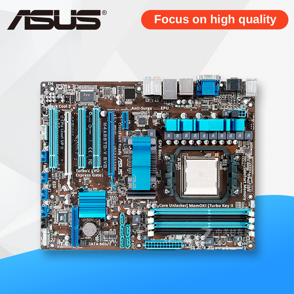 Asus M4A88TD-V EVO Desktop Motherboard 880G Socket AM3 DDR3 SATA3 USB2.0 ATX asus m4a88td v evo original used desktop motherboard 880g socket am3 ddr3 sata3 usb2 0 atx