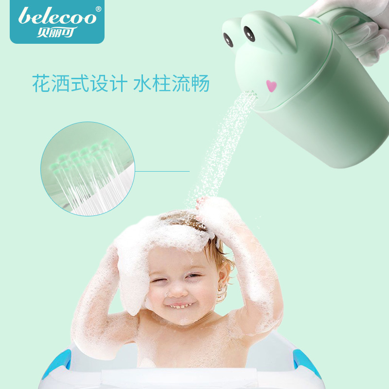 Analytical Belleco Baby Cartoon Shampoo Cup Childrens Shower Shampoo Cup Baby Bath Water Scoop Play Water Scoop Water Scorpion Matching In Colour Mother & Kids