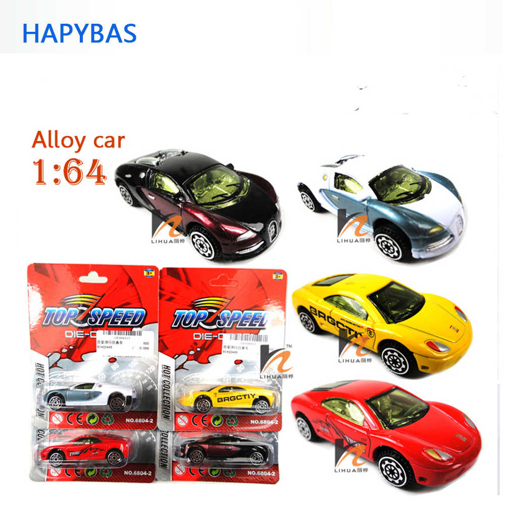 Classic toys! sports car 1:64 alloy car toy model,Sliding car random mixed for Baby Halloween Christmas Birthday Gift