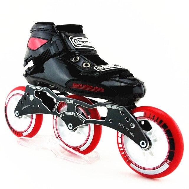 Carl Champion Hitam Warna Kecepatan Skating Sepatu Sepatu Roda 9f246784a4