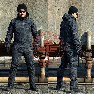 Camouflage Frog Suit Men Outdoor Army Military Uniform Tactical Navy Combat CS Sets (Jacket Pants) Multicam Size M-2XL