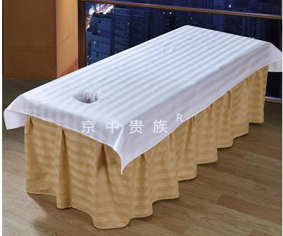 Schoonheid Bed Eenvoudige Katoenen Massage Lakens Spa Speciale Katoenen Riem Gat Schoonheidssalon Lakens Speciale Massage Doek Gat Handdoek De Laatste Mode