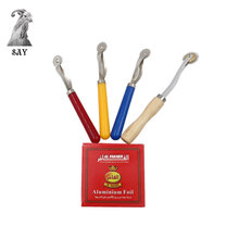SY 1pcs Roller Hookah Foil Piercing Tool Long Handle Shisha Aluminium With Hole For Tobacco Bowl Accessories