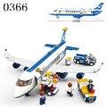 Envío libre avión de juguete modelo de avión airbus building blocks establece ladrillos diy juguetes clásicos compatibles con lepin avión