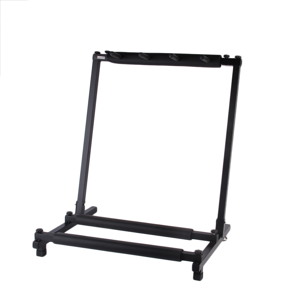 TSAI Electric Guitar Triple Guitar Bass Stand Holder Stage Folding Display Rack for Guitarra stand holder ship from USA popular tsai folding a frame guitar stand frame floor rack holder for acoustic guitar electric guitar bass free shipping promotion