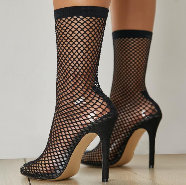 Damas C02129 Malla Zapatos Vintage Bomba La Grueso Mujer Delgado Las 6nTrpTzgx