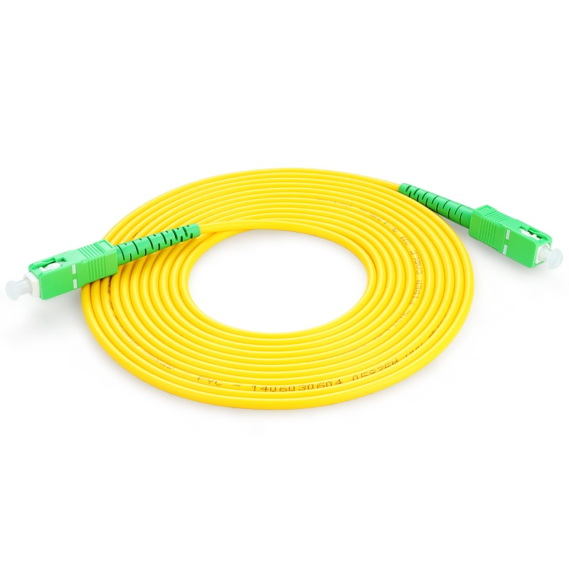 SM SX PVC 3mm 10 Meters SC/APC Fiber Optic Jumper Cable SC/APC-SC/APC Fiber Optic Patch Cord