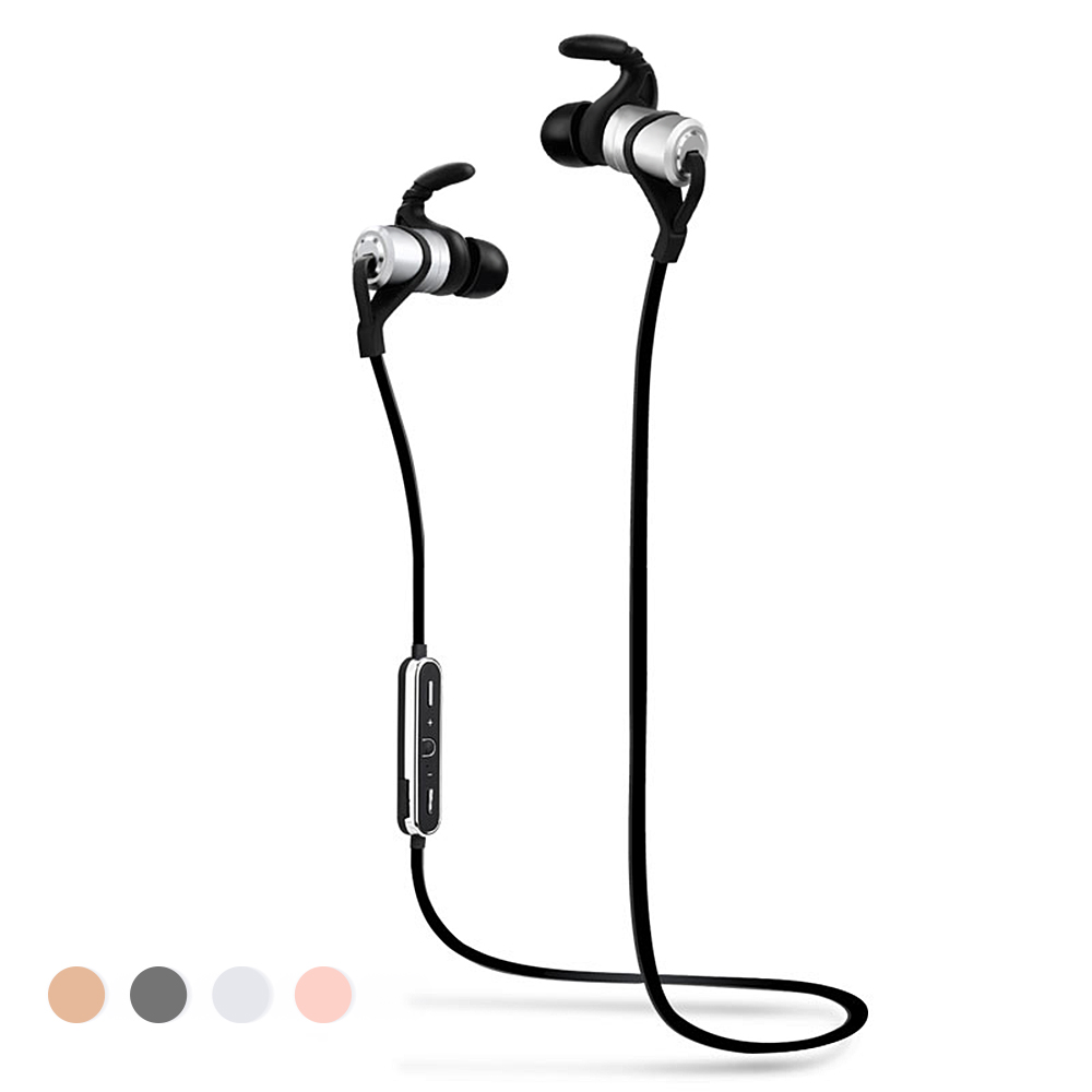 Sport Wireless Bluetooth Earphones Metal Magnet Noise Cancelling Hifi Stereo Music Player Hands Free Calling onn w6 bluetooth hifi music mp3 player 8g storage with earphones