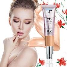 32 мл стойкая изоляция CC крем SPF 50+ макияж Жидкая основа для лица макияж увлажняющая отбеливающая Косметика TSLM2