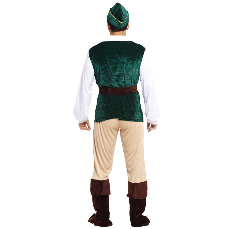 Hat Mens Deluxe Robin Hood Peter Pan Medieval Fancy Dress Costume Adult Outfit