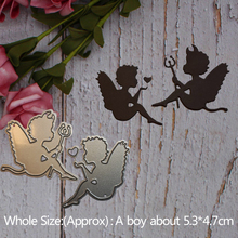 Angel and devil baby heart  Metal steel frames Cutting Dies DIY Scrap booking Photo Album Embossing paper Cards5.3*4.7cm
