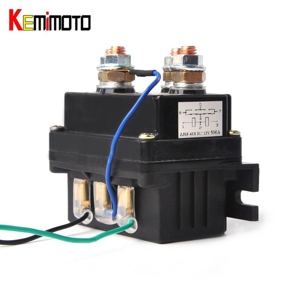 KEMiMOTO 12V CONTACTOR Winch Relay Solenoid For Champion 4500 LT3000 68146 ATV UTV Warn Contactor For Polaris XP 1000 900