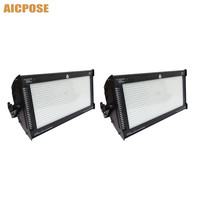 2Pcs/lots High power 1000W LED RGB 3 in 1 Strobe Light 3 Color Atomic 3000 LED Strobe Lighting Stage Party Music Active