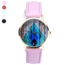 9s cheap Women Leather Analog Quartz Wrist Watch New high quality women quartz watch  0717
