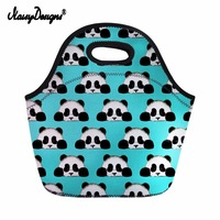 NOISYDESIGNS Soft Big Panda Printing Lunch Bags For Kids Men School Thermal Insulate Food Carry Lunchbox Women Picnic Food Bag