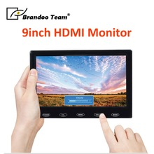 9inch HDMI touch screen car monitor support HDMI/VGA/CVBS output. free shipping