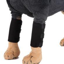2 шт ПЭТ налокотник протектор для защиты ног собаки высокое качество собака хирургии рана протектор ноги обертывание защищает поддерживающий фиксатор наколенники