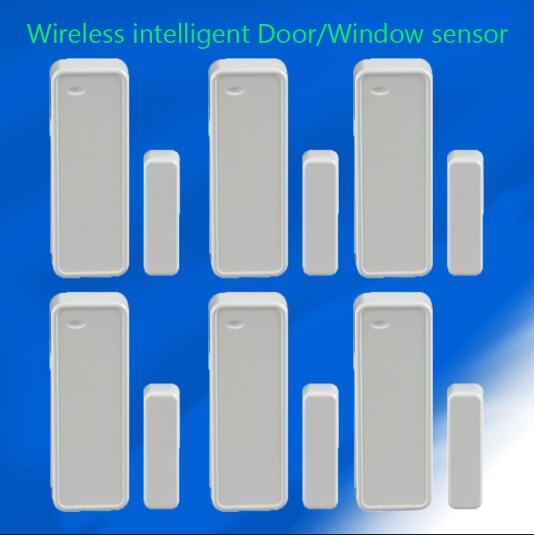 6pcs/lot 433MHZ Wireless Door/window magnet sensor for smart home security WIFI GSM alarm system forecum 433mhz wireless magnetic door window sensor alarm detector for rolling door and roller shutter home burglar alarm system