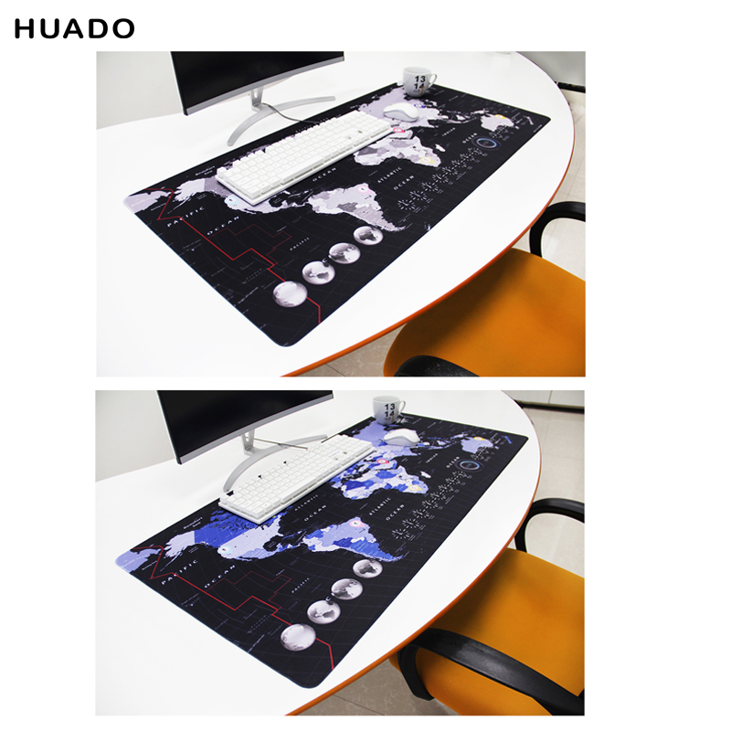 World Map Gaming Mouse Pad Rubber Mousepad Speed Keyboards