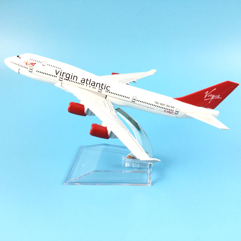 FREE SHIPPING 16cm Alloy Metal Model Plane 737 VIRGIN ATLANTIC  AIRCRAFT MODEL  TOYS AIRPLANE BIRTHDAY GIFT Kids Toys