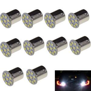 10 шт. Vente Chaude 1156 BA15S P21W 9 SMD 2835 LED De Voiture Auto Indicateur Tournez Side Lumiere Parking Ampoule Lampe DC 12 v