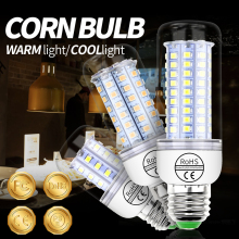 E14 LED Lamp E27 Bulb GU10 220V Corn 2835 SMD 5730 Smart Light 30 36 48 56 69 89 102leds Ampoule Home Lighting