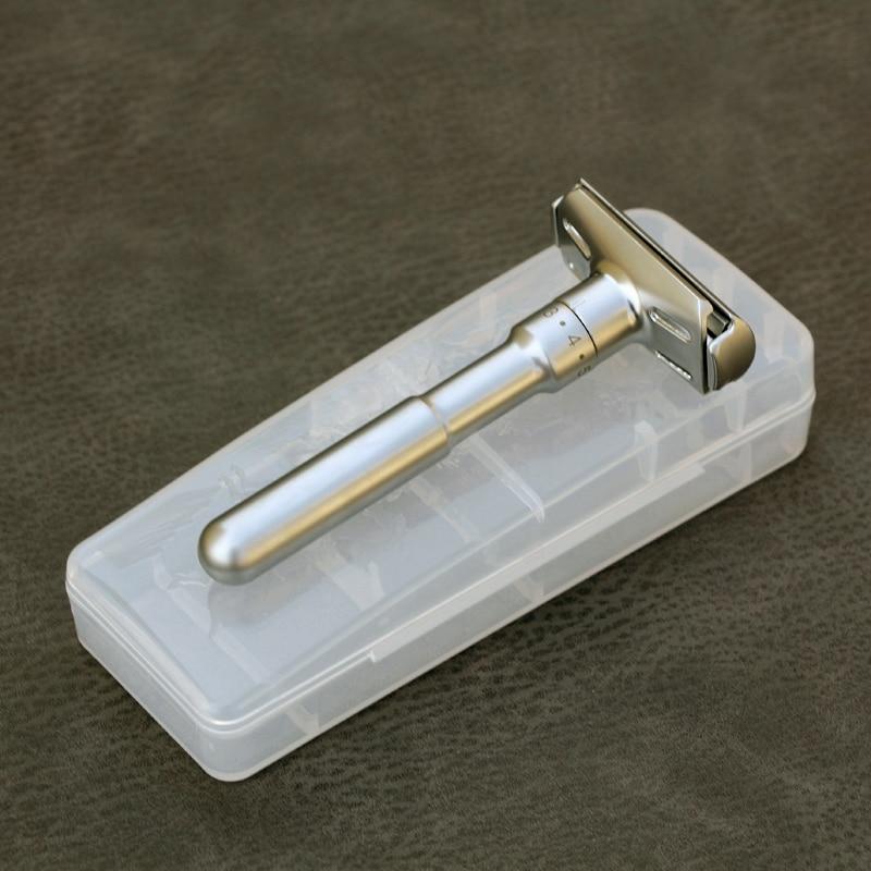 Portable Storage Box Holder Universal Type Alloy Safety Razor For Men Adjustable Close Shaving Classic Razor