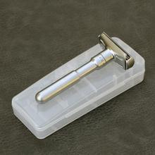 Przenośna pamięć masowa uchwyt skrzynki uniwersalny typ stop bezpieczeństwa golarka dla mężczyzn regulowany blisko golenia klasyczne maszynki do golenia tanie tanio River lake Mężczyzna alloy Razor 9 5cm x1 5cm x 5cm Face box-Razor