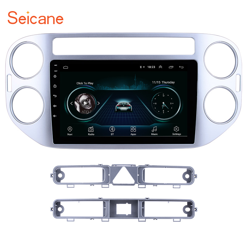 Seicane 9 Inch Android 8.1 <font><b>Car</b></font> Radio Audio GPS Navi Stereo Wifi <font><b>Multimedia</b></font> <font><b>Player</b></font> Head Unit <font><b>For</b></font> <font><b>VW</b></font> Volkswagen Tiguan 2010-2015 image