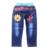 Varejo 2017 primavera e no outono nova moda Spiderman crianças calça jeans meninos lazer crianças calças calças/calça jeans