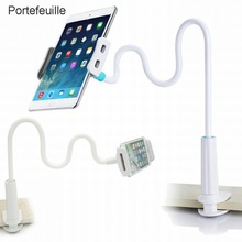 Support de tablette pour téléphone portable Portefeuille support paresseux col de cygne 360 bras Long pour iPhone iPad mini air 2 Nintendo support de montage pour commutateur